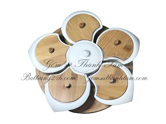 Bán khay đĩa đựng bánh kẹo gốm sứ Bát Tràng đựng mứt tết, khay đĩa đựng bánh kẹo chất lượng