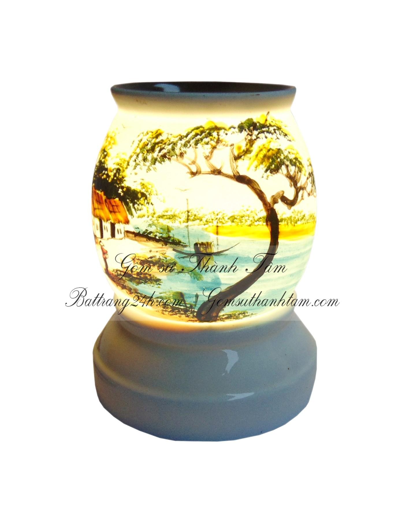 Đèn xông tinh dầu đốt bằng điện bằng sứ đẹp