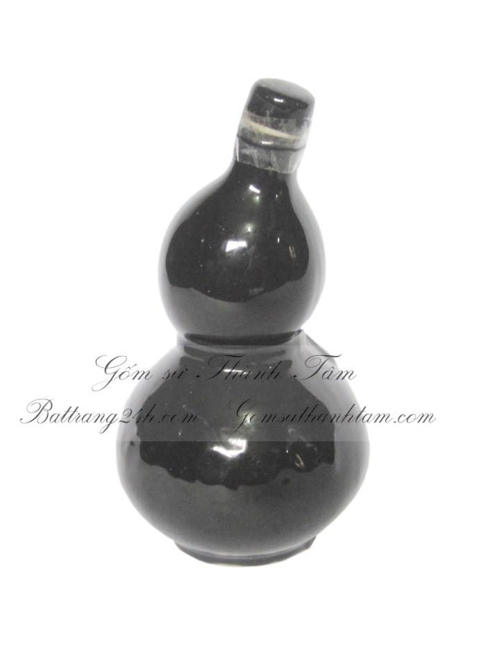 nậm đựng rượu màu đen bóng dày dặn