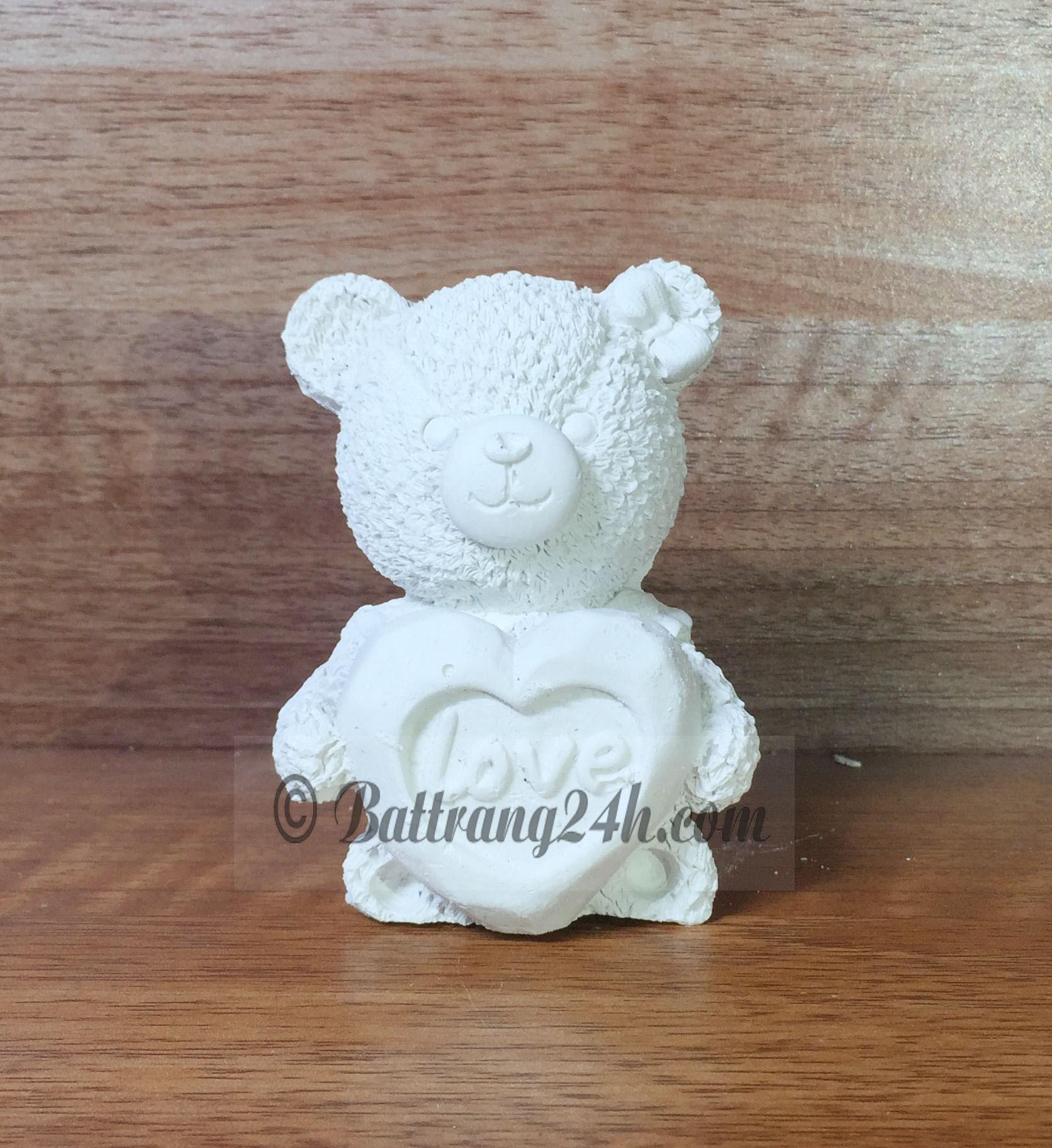 Tượng hình gấu, tượng thạch cao gốm sứ Bát Tràng giá rẻ